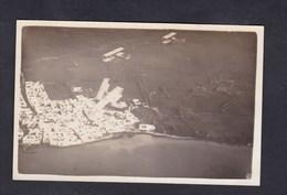 Carte Photo Avion Hydravions  Hydravion  En Vol  Aviation Maritime De Karouba Bizerte Tunisie - 1919-1938