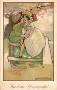 ILLUSTRATION SIGNEE AGNES RICHARDSON HERZLICHE PFINGSTGRUSSE - Illustrateurs & Photographes