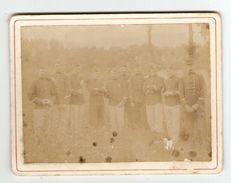 PHOTO ORIGINALE GROUPE DE MILITAIRES - 2 Scans - Guerre, Militaire