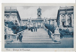 LAZIO - ROMA - GRADINATA DEL CAMPIDOGLIO - CARTOLINA PRIMI NOVECENTO ANIMATA-  NUOVA NV - Roma
