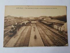 Alès - Vue Intérieure De La Gare, Prise De La Passerelle De Chantilly - Train à Quai - Brunel Photo - Alès