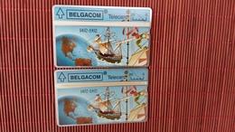 S 47 Cristophe Colombus 2 Cards 267E + 267 H Used - Belgique