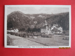 Austria - Semmering, Hotel Erzherzog Johann 1927 ( See Stamp On Back ) - Semmering