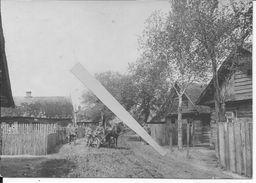 Russie Ukraine Raspoutitsa Officiers Allemandsavec Un Attelage Russe Dans La Boue 1 Photo Ww1 14-18 1914-1918 - Guerre, Militaire