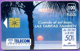 Télécarte Argentine °° Cuendo El Sol Baja, Las Tarifas Tambien - - Argentine