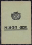 Bolivia 1961 Pasaporte Oficial 24 Pags.Mons. Jorge Manrique. 4sc. See Desc. - Historische Documenten