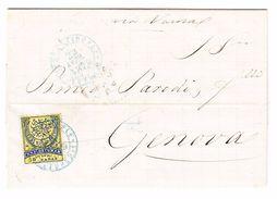1879 Faltbrief Von Konstantinopel Nach Genua Sauber Gestempelte 50 Para Marke - 1858-1921 Empire Ottoman