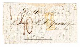 1854 Faltbrief Von Buenos Aires Nach Cette Frankreich Mit Stempel Colonies Art 13 - Argentine