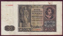 POLOGNE - 50 ZLOTYCH  - 01/08/1941 - Pologne