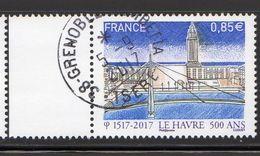 France 2017.Le Havre 500 Ans.Cachet Rond.Gomme D'Origine. - France