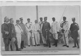 LIBYE : Il Generale Caneva L'ammiraglio Borea Ricci E Lo Stato Maggiore, Tripoli - Tres Bon Etat - Libia