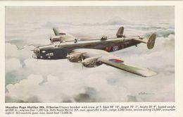 Aviation Art Postcard RAF Handley Page Halifax Mk.II Aircraft - AFD Bannister - 1939-1945: 2nd War
