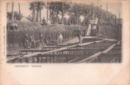THOLEN 1904 OESTERCULTUUR HUITRES VISSERIJ OESTERPUT ARBEIDERS - Uitg. POULUSSE - 2 SCANS - Tholen