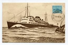 !!! CARTE MAXIMUM BATEAU CACHET OSTENDE DOUVRE 1946 - Maximum Cards