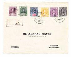 1924 R- Brief Von Kuching Nach Zagreb Sechs Farben Frankatur Gebrauchsspuren Backflap Fehlt - Sarawak (...-1963)