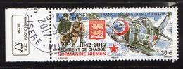 France 2017.Normandie-Niémen.France-fédération De Russie.Cachet Rond.Gomme D'Origine. - France