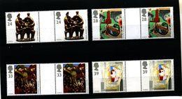 GREAT BRITAIN - 1993  ART  EUROPA   GUTTER PAIRS  UNFOLDED  SET  MINT NH - 1952-.... (Elisabetta II)