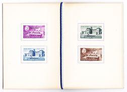 1948 Peace Treaty Serie überdruckt Specimen In Courvoisier Heft - Neufs