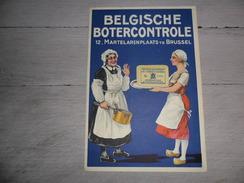 Document ( 125 )  Reclame  Publicité  Beurre  Belgische Botercontrole  Brussel  Bruxelles  ( 17,5 X 12 Cm ) - Publicités