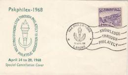 64866- PHILATELIC EXHIBITION SPECIAL COVER, LANDSCAPE STAMP, 1968, PAKISTAN - Pakistan