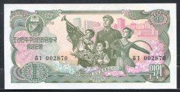 443-Corée Du Nord Billet De 1 Won 1978 - 002 Neuf - Corée Du Nord