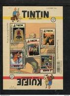 425474383 DB 2016 BELGIE  POSTFRIS MINT NEVER HINGED POSTFRISCH EINWANDFREI OCB  KUIFJE TINTIN WEEKBLAD Cartoons Strips - Blocks & Kleinbögen 1962-....