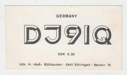 CARTE QSL GERMANY / DJ 91 Q à ETTRINGEN - Radio