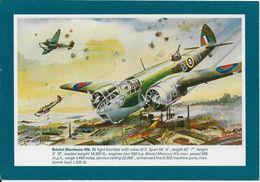Aviation Art Postcard RAF Bristol Blenheim Mk.IV Bomber Aircraft AFD Bannister - 1939-1945: 2nd War