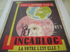ANCIENNE PUBLICITE DES MEILLEUR MONTRES INCABLOC 1952 - Autres