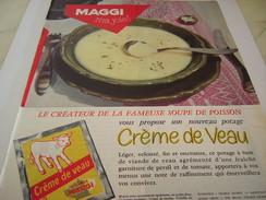 ANCIENNE PUBLICITE POTAGE CREME DE VEAU DE  MAGGI 1957 - Posters