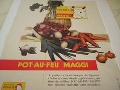 ANCIENNE PUBLICITE POT AU FEU  DE  MAGGI 1957 - Affiches