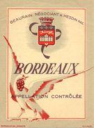 Etiket Etiquette - Wijn - Vin - Bordeaux - Beaurain Négociant à Hesdin - Etichette