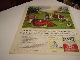 ANCIENNE AFFICHE PUBLICITE  LAIT CONCENTRE GLORIA 1960 - Affiches