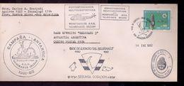 Argentina Sobre Campaña Antartica 1981-2 Correspondencia Helitransportada Desde Le Rompehileeo Iirzar - Helicópteros