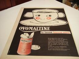 ANCIENNE PUBLICITE LA TASSE BONNE MINE OVOMALTINE 1960 - Posters