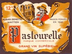 Etiket Etiquette - Wijn - Vin - Pastourelle - Alban - Semette à Watten - Ohne Zuordnung