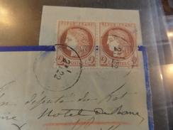 Lot Du 05.09.17-DDL  Avec N°51   En Paire , - Postmark Collection (Covers)