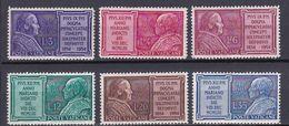 1954 - VATICAN - Scott #176-181 - MNH VF ** - Vatican
