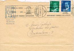 25507. Carta  BARCELONA 1981. Rodillo Especial  BORN, Exposicion Trenes I ESTACIONES - 1931-Hoy: 2ª República - ... Juan Carlos I