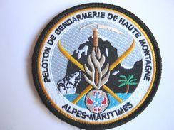 INSIGNE TISSUS PATCH GENDARMERIE NATIONALE SECOURS HAUTE MONTAGNE PGHM ALPES MARITIMES 06 SUR VELCROS - Police & Gendarmerie