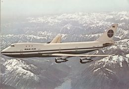 Aviation Postcard Pan Am Boeing 747 Aircraft 747-100 Jumbo Jet - 1946-....: Modern Era