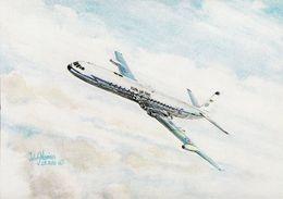 Aviation Art Postcard RAF De Havilland DH 106 Comet 4c Aircraft John Norriss - 1946-....: Modern Era