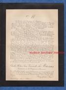 Document De 1907 - Château SAINT TRYS , ANSE - Charles Hélion Pierre Vicomte De BROSSES , Lt 16e Régiment De Chasseurs - Documents Historiques
