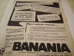 ANCIENNE PUBLICITE NOUS AVIONS RAISON BANANIA  1958 - Posters