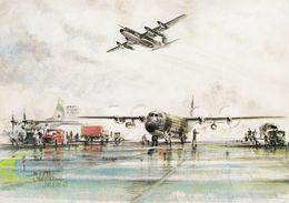 Aviation Art Postcard RAF Lockheed C130 Hercules Mk.3 Mk.1 Aircraft Lyneham - 1946-....: Moderne