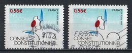 France Adhésifs 2009 : Timbres Yvert & Tellier N° 337 Type I Et Type II Avec Oblitérations Rondes Et Mécaniques - Frankreich