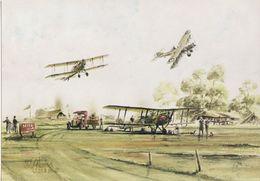 Aviation Art Postcard DH9A Bristol F2B Filton Aircraft General Strike 1926 - 1946-....: Modern Era