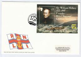 1999  ISLE OF MAN  FDC Miniature Sheet LIFEBOAT , KOALA BEAR Stamps Expo Cover - Isle Of Man