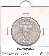 PORTOGALLO   20 ESCUDOS   ANNO 1966  COME DA FOTO - Portogallo