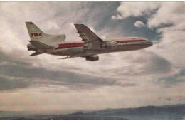 Aviation Postcard TWA Lockheed L-1011 TriStar Aircraft - 1946-....: Modern Era